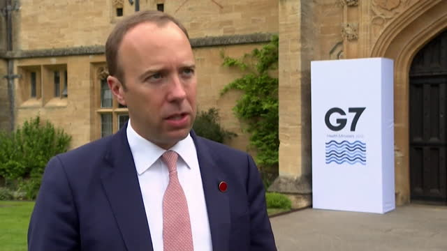 """interview matt hancock, health secretary, about sharing covid-19 vaccines globally """"we don't have any excess doses at the moment but absolutely we... - sharing stock videos & royalty-free footage"""