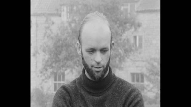 """interview michael eavis, founder of glastonbury festival, after the first one on worthy farm in 1970 """"from the music side it was rated with the other... - 出来事の発生点の映像素材/bロール"""