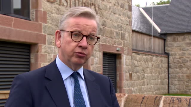 interview michael gove, mp, on why the uk government have imposed a two week quarantine for people travelling back from spain to the uk during the... - travel destinations stock videos & royalty-free footage