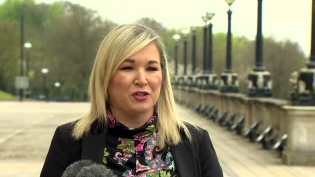interview michelle o'neill mla, deputy first minister northern ireland, about new ira leaving bomb outside police officers home in county londonderry... - daughter stock videos & royalty-free footage