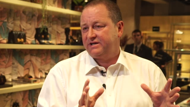 interview mike ashley chief executive sports direct about huge unexpected tax bill from the belgium authorities - business person stock videos & royalty-free footage