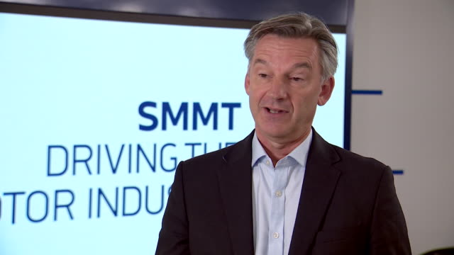 "interview mike hawes, ceo smmt, about automotive industry possibly losing out in a brexit trade deal ""we need to make sure it is at the top of... - automobile industry stock videos & royalty-free footage"