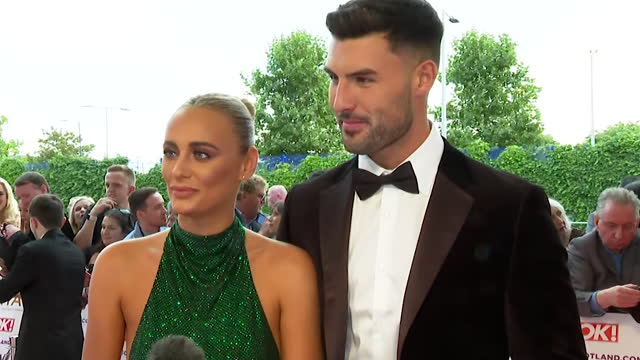 """interview millie court and liam reardon, winners of love island 2021, on the red carpet at the nta awards 2021, about how their lives have changed... - """"bbc news"""" stock videos & royalty-free footage"""