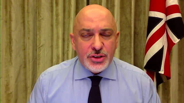 interview nadhim zahawi, covid vaccine minister, about trying to locate person in england who tested positive for brazilian variant of coronavirus - latin america stock videos & royalty-free footage
