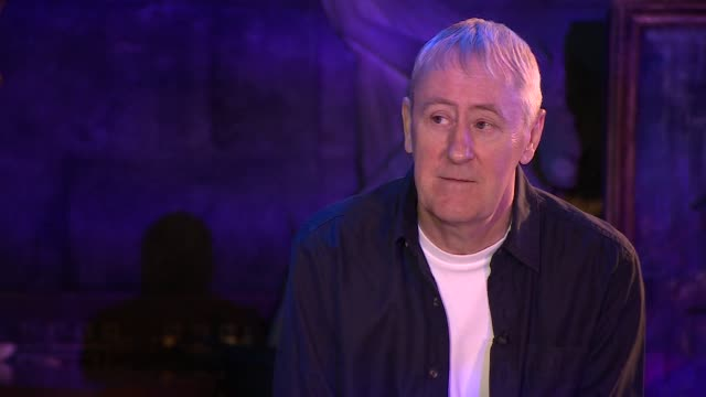 "interview nicholas lyndhurst, actor, about being uncomfortable during press interviews ""i'm not very good at talking about myself"" - nicholas lyndhurst stock videos & royalty-free footage"