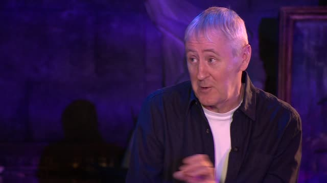 "interview nicholas lyndhurst, actor, about comedy ""you have to have cruelty in comedy, take the victim out of the joke and there is no joke"" - nicholas lyndhurst stock videos & royalty-free footage"