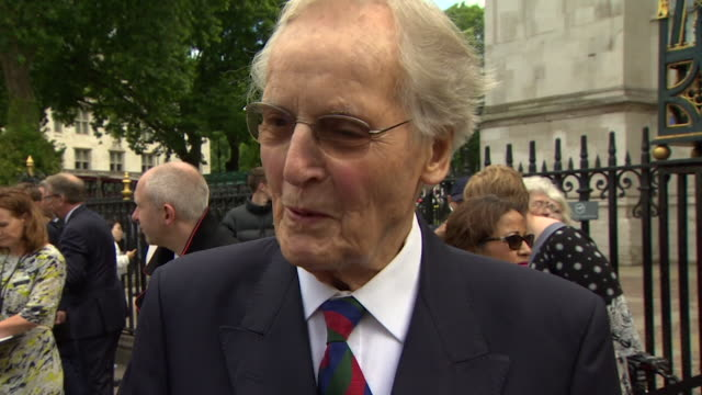 interview nicholas parsons talking about ronnie corbett before his memorial service, 2017 - nicholas parsons stock videos & royalty-free footage