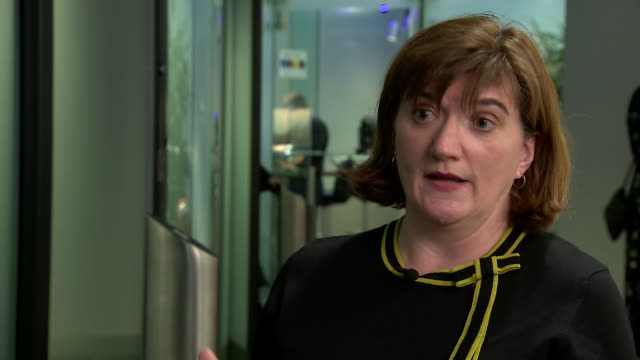 interview nicky morgan, culture secretary, about ofcom being given new powers to punish social media firms who fail to act over harmful content - regole video stock e b–roll