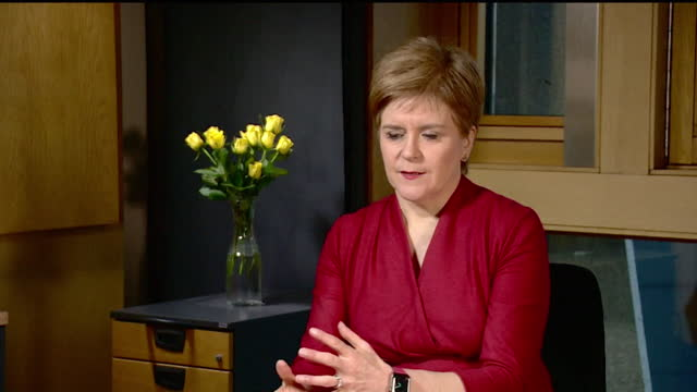 "interview nicola sturgeon, first minister of scotland, ""deeply regrets"" length of time it took to introduce regular testing in care homes during... - pattern stock videos & royalty-free footage"