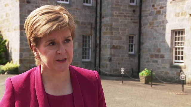 interview nicola sturgeon, first minister of scotland, offers condolences to families of people who drowned in scotland's waters during heatwave - care stock videos & royalty-free footage