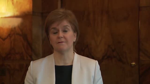 interview nicola sturgeon, first minister of scotland, on being cleared of breaching the ministerial code over her handling of the alex salmond... - party social event stock videos & royalty-free footage