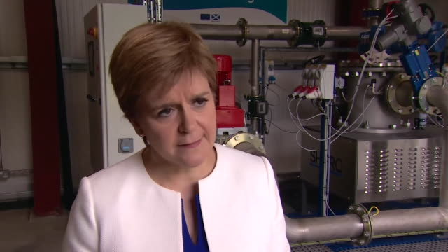 interview nicola sturgeon msp first minister of scotland about john mcdonnell snp comments if the circumstances leant the snp to be part of a... - john mcdonnell politician videos stock videos & royalty-free footage