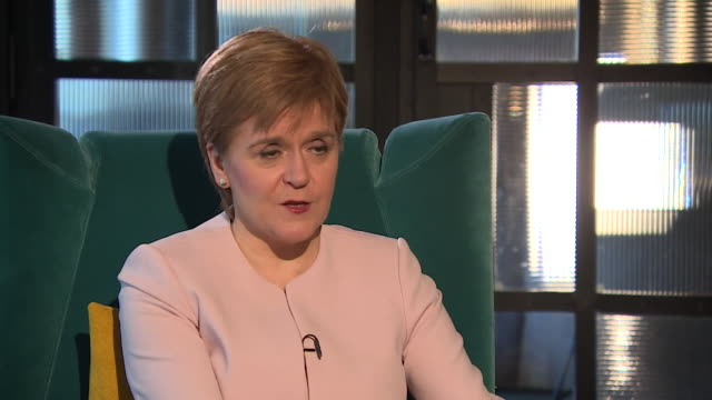 interview nicola sturgeon snp leader about a second scottish referendum support for independence is rising so i'm pretty confident we'll be in a... - international team soccer stock videos & royalty-free footage