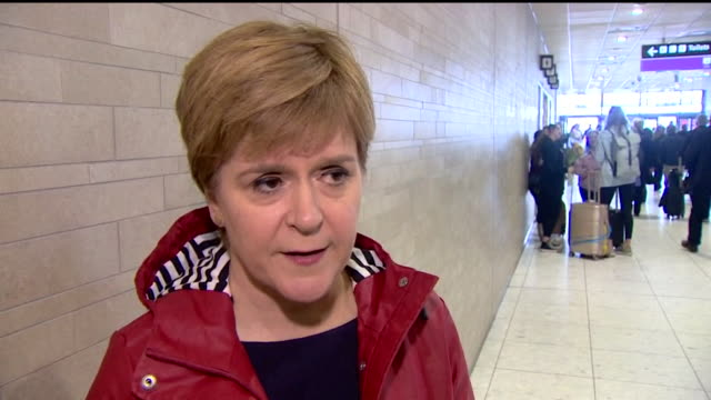 interview nicola sturgeon snp leader about jeremy corbyn wanting support to become caretaker prime minister we'll work with anyone and we'll explore... - jeremy corbyn stock videos and b-roll footage