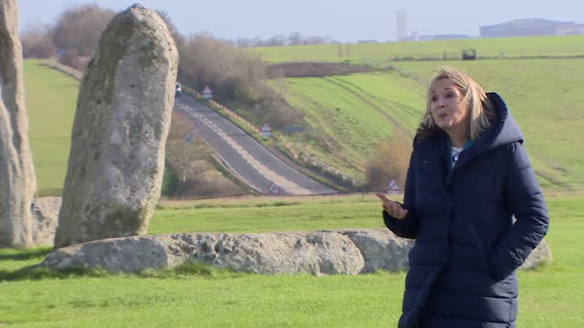 interview nicola tasker, english heritage, about plans being approved to create a tunnel for the a303 road that runs alongside stonehenge - reportage stock videos & royalty-free footage
