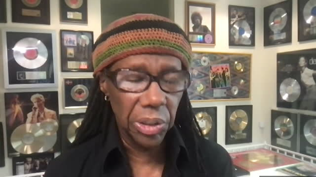 interview nile rodgers, musician, about musicians not seeing a fair economic return from streaming of their music - stream stock videos & royalty-free footage