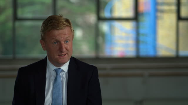 interview oliver dowden culture secretary about the government's culture recovery fund brought in due to coronavirus pandemic this is an important... - making money stock videos & royalty-free footage