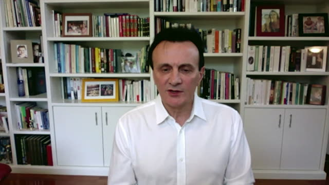 """interview pascal soriot, ceo astrazeneca, about coronavirus testing """"people have come together in an incredible team effort"""" - chief executive officer stock videos & royalty-free footage"""