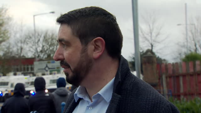 interview paul doherty, sdlp, about sectarian violence between nationalist and loyalist youths in belfast - adolescence stock videos & royalty-free footage