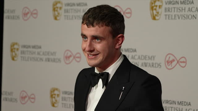 interview paul mescal, about winning tv bafta 2021 for leading actor for normal people and how proud he is of the show - actor stock videos & royalty-free footage
