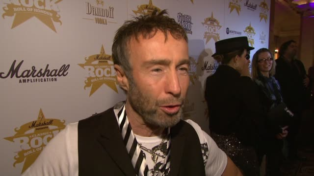 paul rodgers on being recognised as a songwriter at the classic rock roll of honour awards at london england. - songwriter stock videos & royalty-free footage