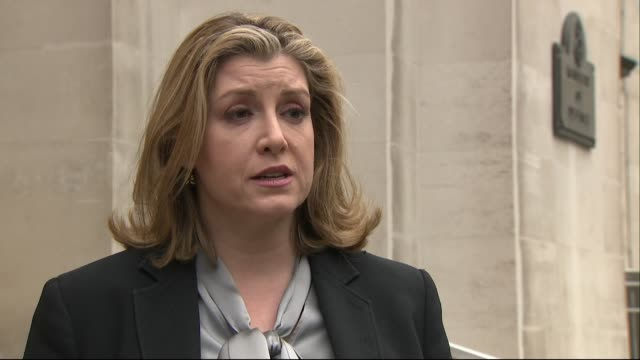 """interview penny mordaunt, defence secretary on the day gavin williamson was sacked from the role over huawei leak """"the prime minister has made her... - 不祥事点の映像素材/bロール"""