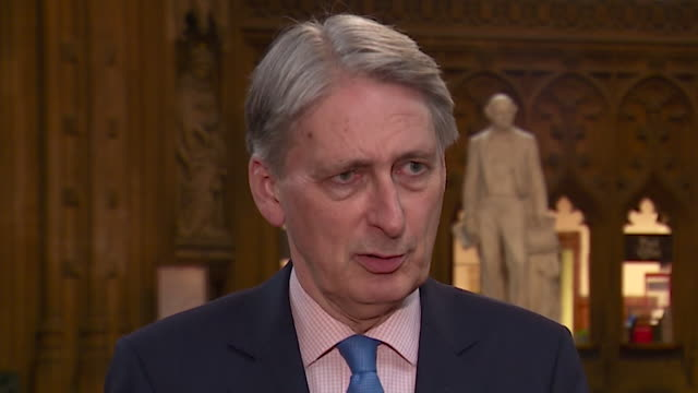 interview philip hammond chancellor about spending promises made by the conservative leadership candidates people have to be honest about the... - フィリップ ハモンド点の映像素材/bロール