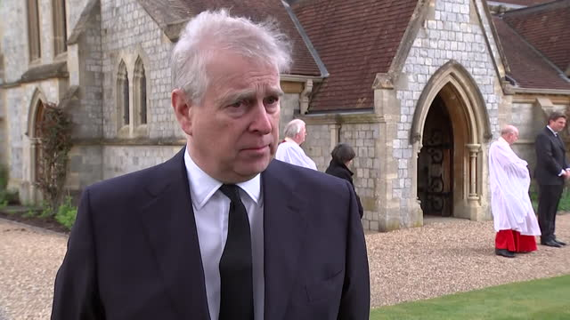 interview prince andrew, following the death of his father duke of edinburgh, draws comparison with the royal family's loss and those that have lost... - love emotion stock videos & royalty-free footage
