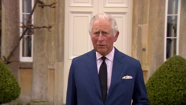 """interview prince charles, at highgrove house, about the death of duke of edinburgh """"we miss him enormously"""" - """"bbc news"""" stock videos & royalty-free footage"""