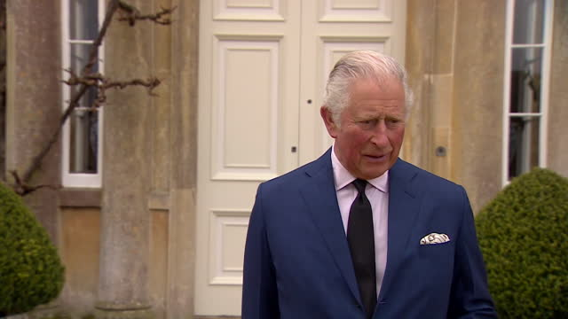 """interview prince charles, at highgrove house following the death of duke of edinburgh, pays tribute to the service his father gave to the family, the... - """"bbc news"""" stock videos & royalty-free footage"""