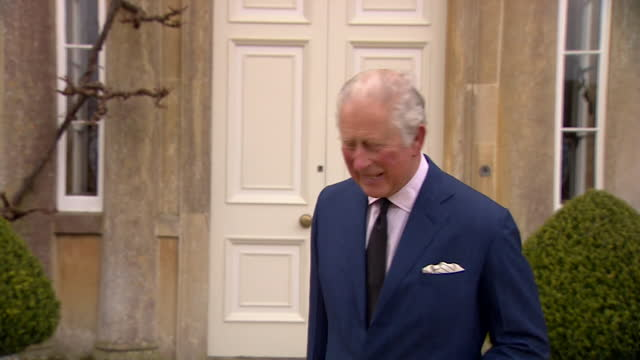"""interview prince charles, at highgrove house, following the death of duke of edinburgh """"my dear papa was a very special person who would have been... - """"bbc news"""" stock videos & royalty-free footage"""