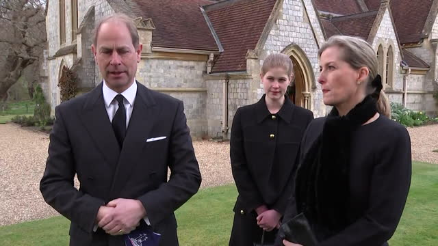 """interview prince edward, about the death of his father duke of edinburgh """"it's been a bit of a shock and very very sad"""" - """"bbc news"""" stock videos & royalty-free footage"""