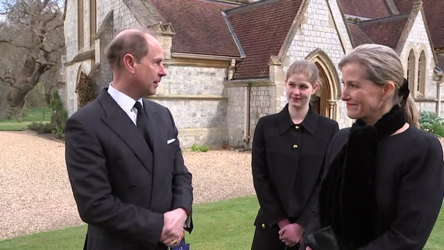 """interview prince edward, about the tributes coming in following the death of his father duke of edinburgh """"it's been fantastic and he meant a lot to... - """"bbc news"""" stock videos & royalty-free footage"""