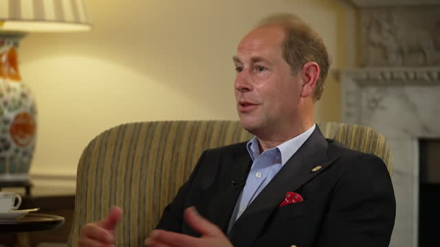 interview prince edward, earl of wessex, about how the royal family and the queen coped with coronavirus lockdown, and staying in touch via computers - stationary stock videos & royalty-free footage