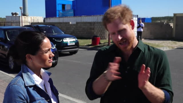 interview prince harry talks about mental health during visit to waves for change charity at monwabisi beach in cape town during their tour of africa - interview raw footage stock videos & royalty-free footage