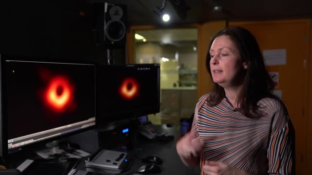 interview professor lucie green, astrophysicist, talks about the photograph of the black hole - astronomy stock videos & royalty-free footage