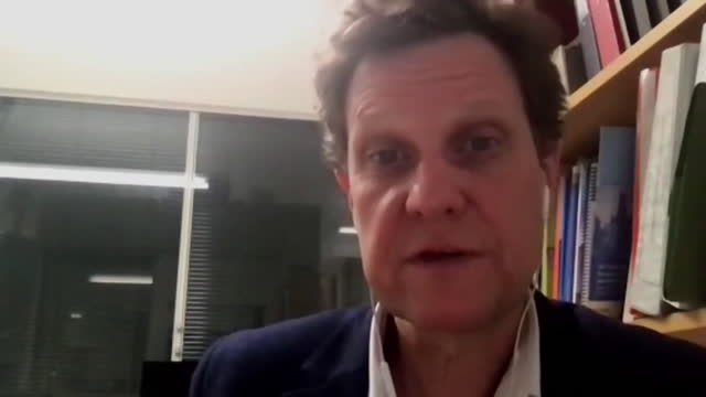 interview professor matthew snape, oxford vaccine trials, about trials to see whether giving people different covid vaccines for their first and... - mixing stock videos & royalty-free footage
