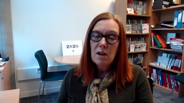interview professor sarah gilbert, university of oxford, about receiving the two doses of oxford astrazeneca covid-19 vaccine three months apart - oxfordshire stock videos & royalty-free footage