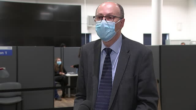 interview professor stephen powis, medical director nhs england, about keeping an eye on mutations of the coronavirus - latin america stock videos & royalty-free footage