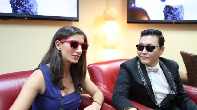 discusses pronunciation of gangnam on september 16, 2012 in new york, new york - pop musician stock videos & royalty-free footage