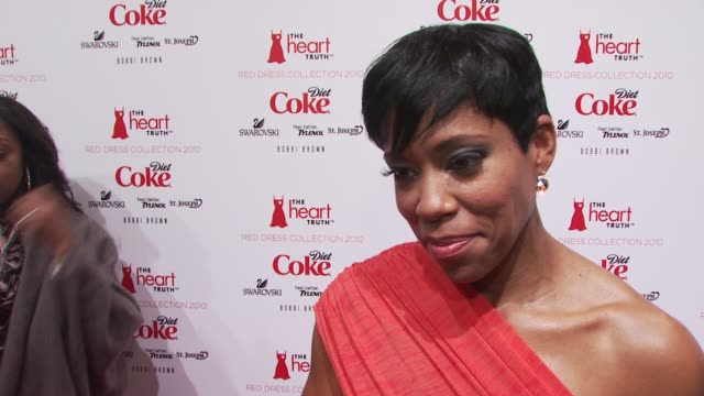regina king talks about her involvement in heart truth some tips to staying healthy and the designer she is wearing down the runway at the show at... - regina king stock videos and b-roll footage