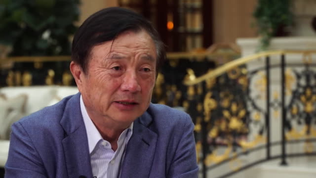 """interview ren zhengfei, huawei president """"we will continue to invest in the uk. if the us doesn't trust us then we shift investment to the uk on an... - trust stock videos & royalty-free footage"""