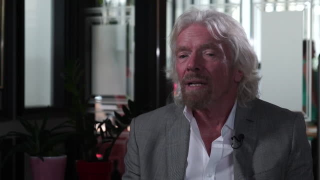 interview richard branson businessman about virgin hyperloop being developed as competition to high speed rail - speed stock videos & royalty-free footage