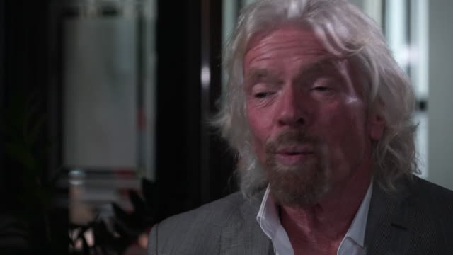 interview richard branson, businessman, talks about being an entrepreneur in the uk today - chance stock videos & royalty-free footage