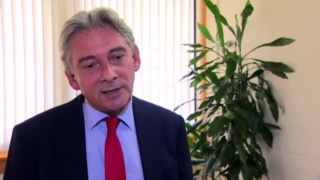interview richard leonard msp scottish labour leader about john mcdonnell scottish referendum comment put to him the clear view that the people of... - john mcdonnell politician videos stock videos & royalty-free footage