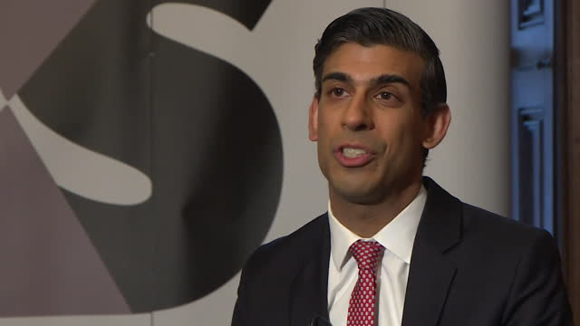 interview rishi sunak, chancellor of the exchequer, about coronavirus lockdown slowing down placements for the kickstart job scheme - recruit stock videos & royalty-free footage