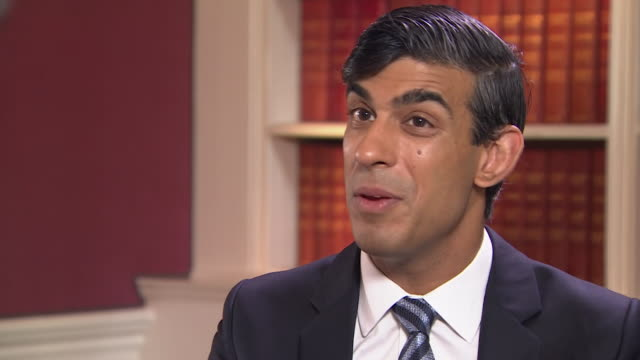 """interview rishi sunak mp, chancellor about uk falling into largest recession of any other major economy due to coronavirus lockdown """"social... - taking a break stock videos & royalty-free footage"""