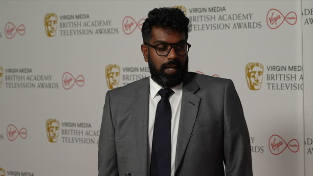 interview romesh ranganathan about the diversity of winners at the tv bafta 2021 awards - multi ethnic group stock videos & royalty-free footage