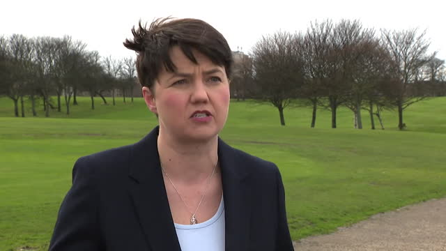 interview ruth davidson msp, about row between alex salmond and nicola sturgeon about the government's handling of harassment allegations against him... - holding stock videos & royalty-free footage