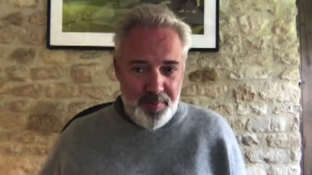 interview sam mendes, director, talks about the economic importance of the theatre after it has been deeply impacted and unable to reopen during the... - the alphabet stock videos & royalty-free footage